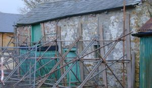 The propping up of the Cider Barn