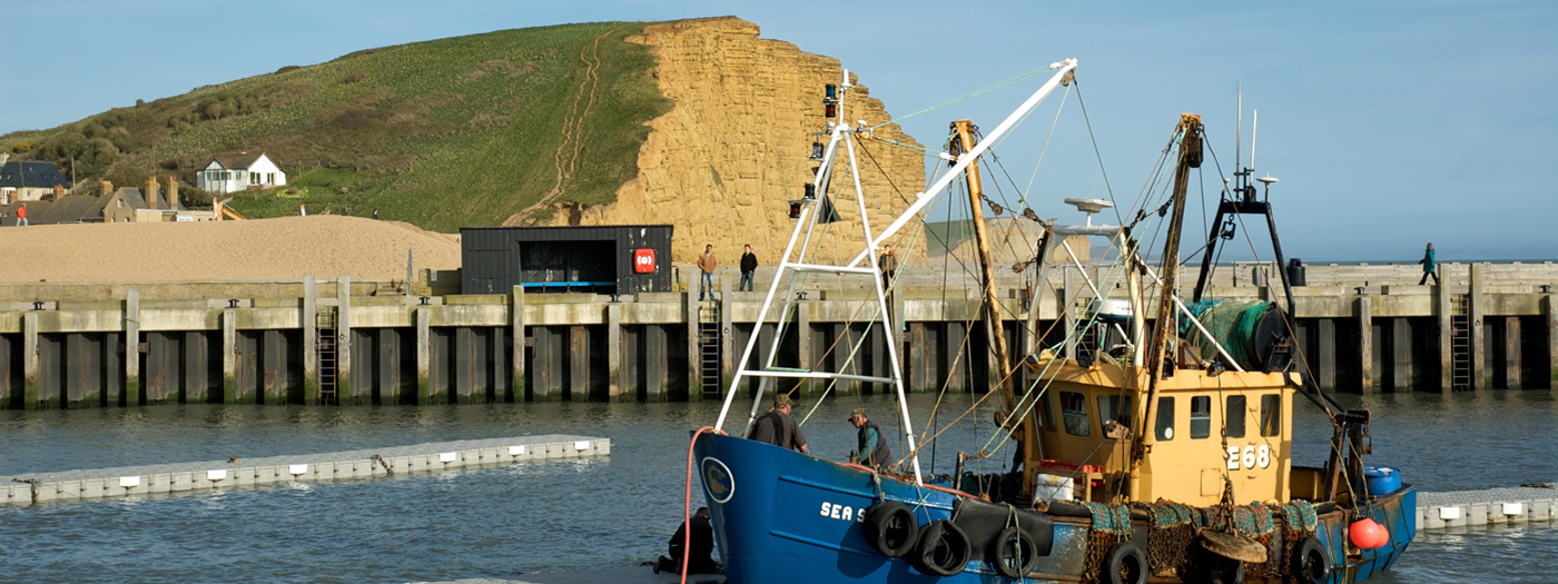 Fishermen at West Bay